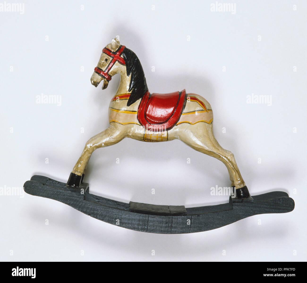 Ornately Painted Rocking Horse Stock Photo Alamy