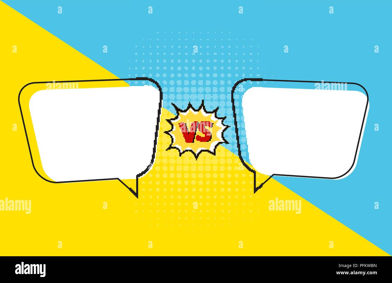 Versus letters figh background in pop art style. Vector Illustration - Stock Vector