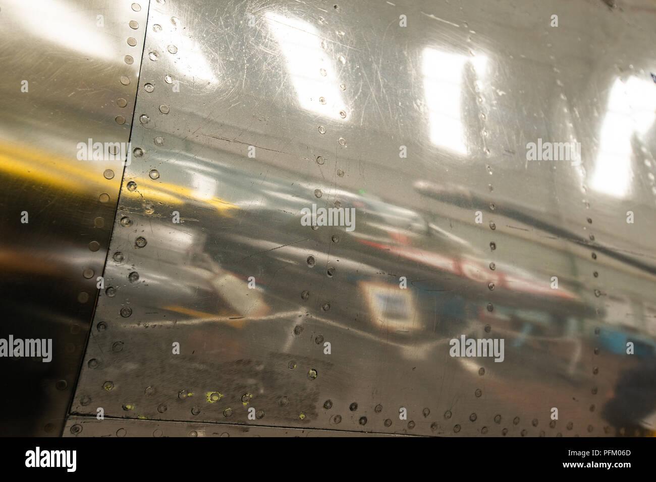 Close up of aircraft body aluminium Stock Photo: 216183477 - Alamy