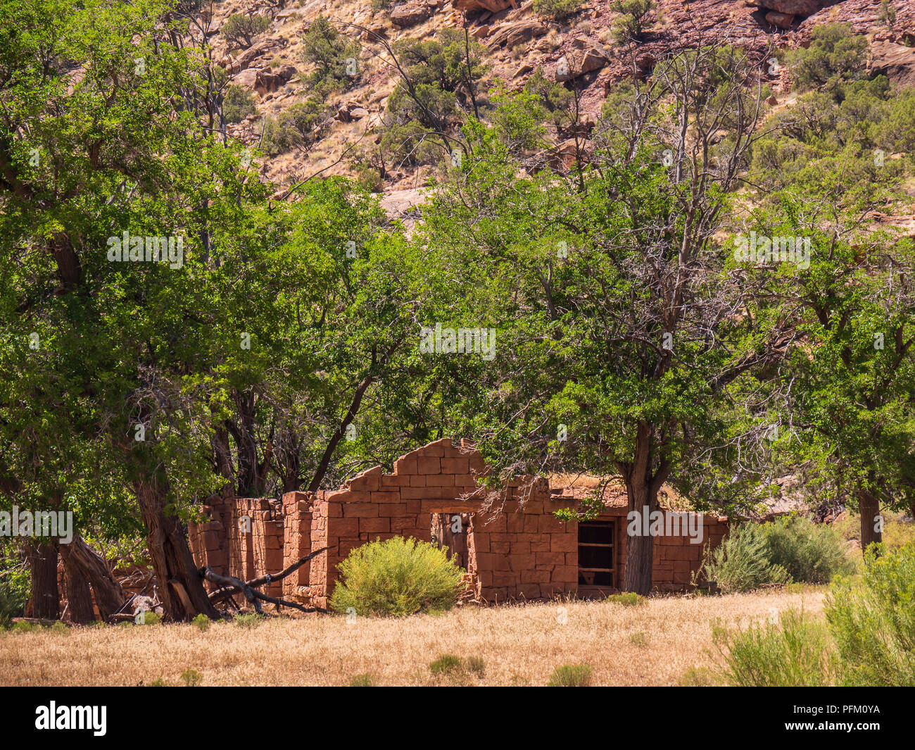 Rock Creek Ranch, Desolation Canyon north of Green River, Utah. - Stock Image