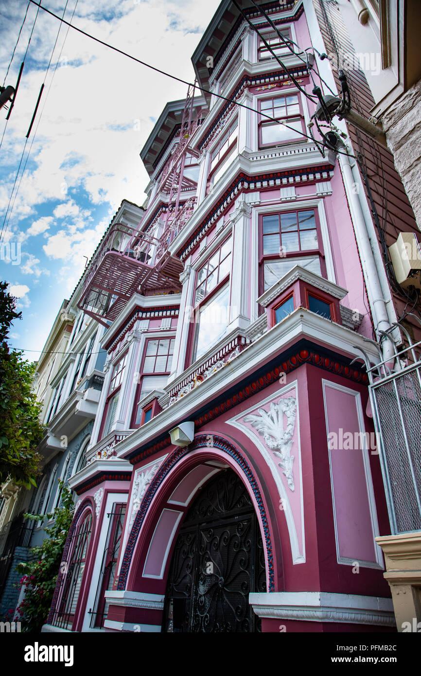 Janis Joplin's Apartment, Haight-Ashbury, San Francisco - Stock Image