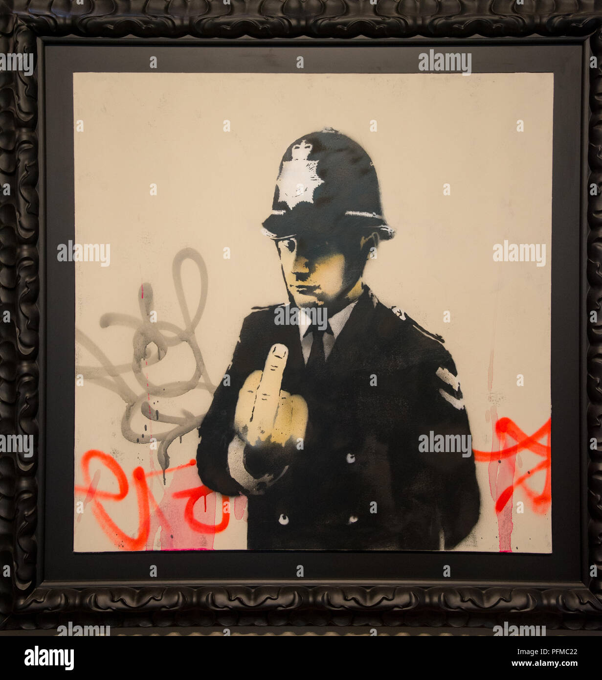 Banksy Graffiti street art Rude Copper