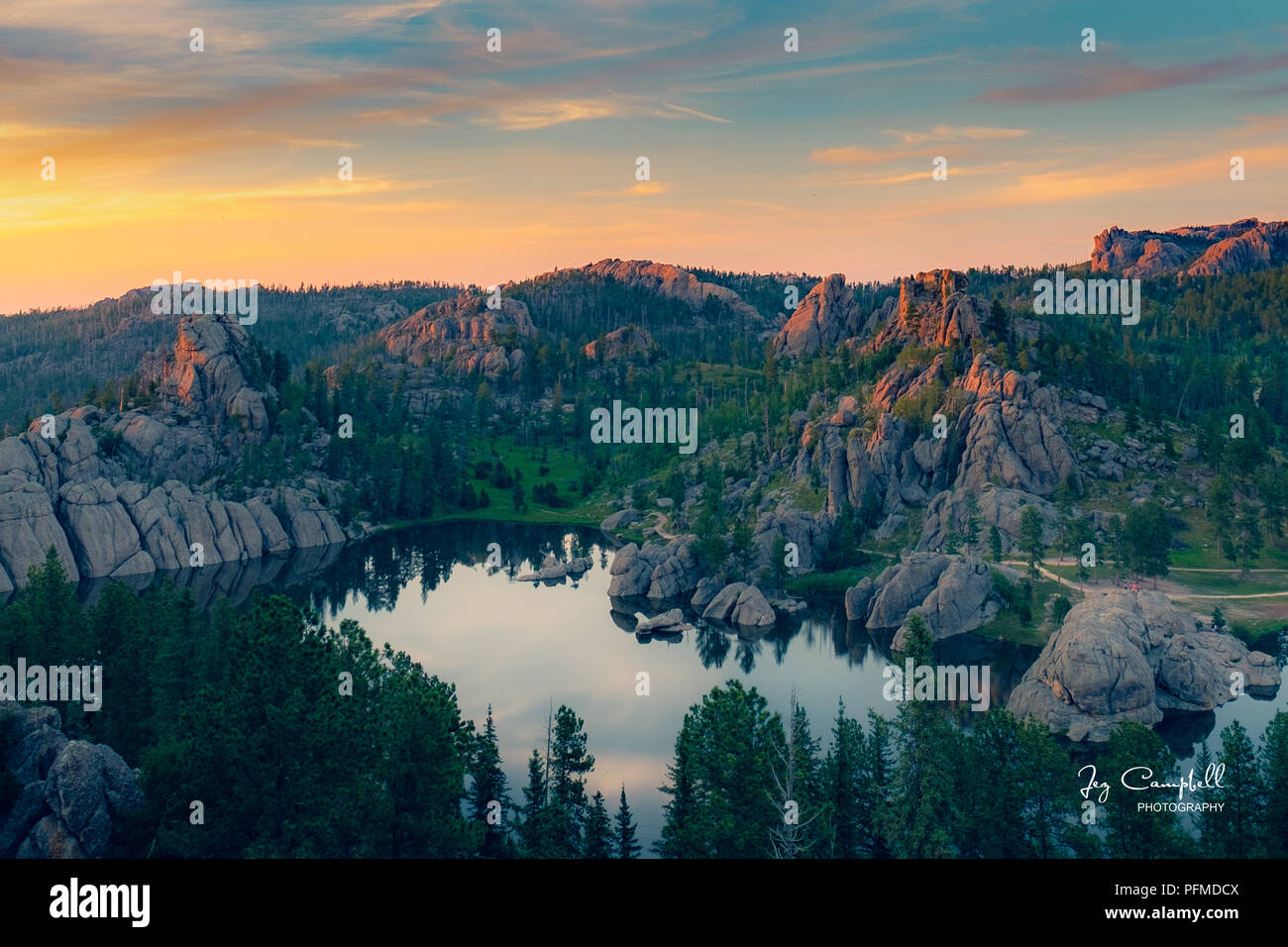 Sylvan Sunset - Stock Image