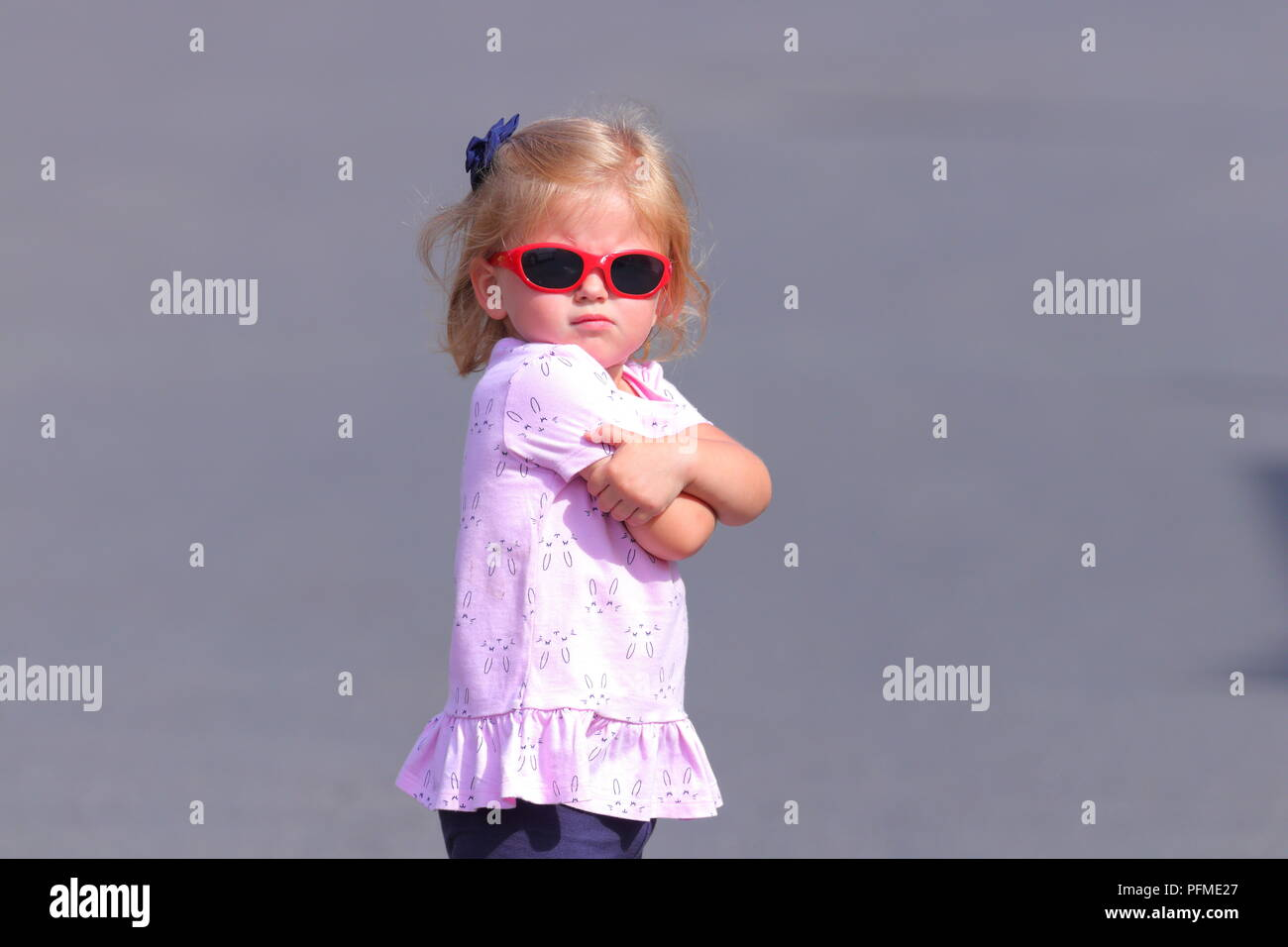 Little girl with an attitude - Stock Image