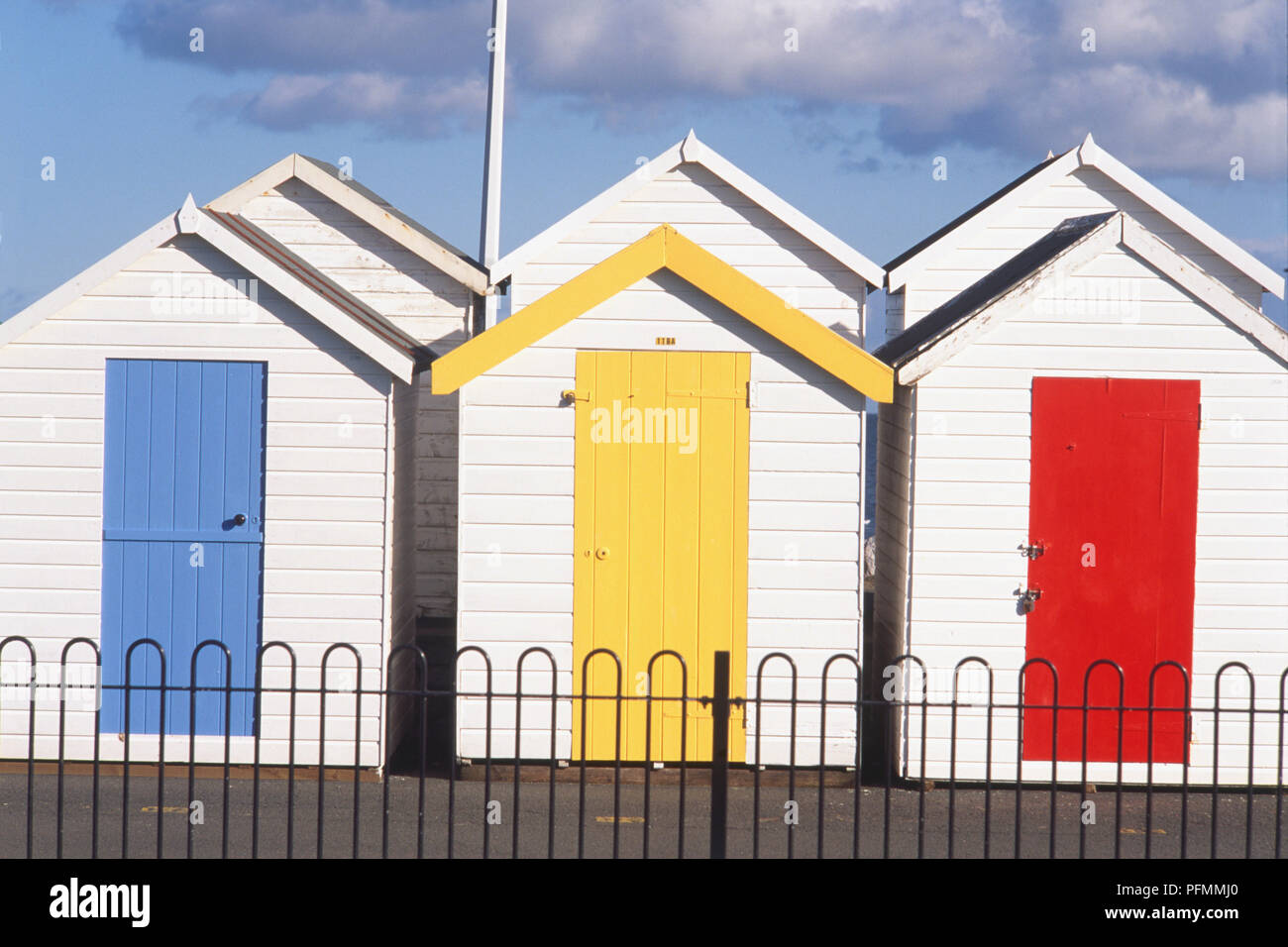 Beach Huts On Seafront Devon Stock Photos Beach Huts On Seafront