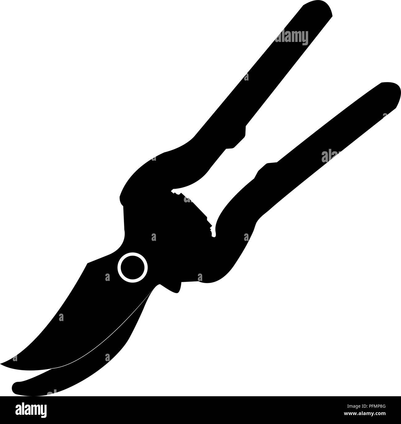 scissors garden silhouette isolated on white background vector illustration Stock Vector