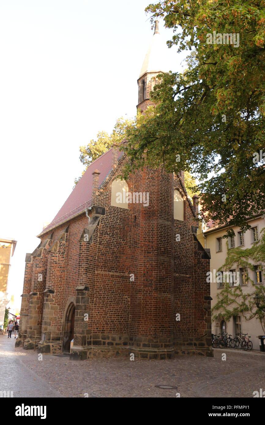 Im Zentrum von Lutherstadt-Wittenberg - Stock Image