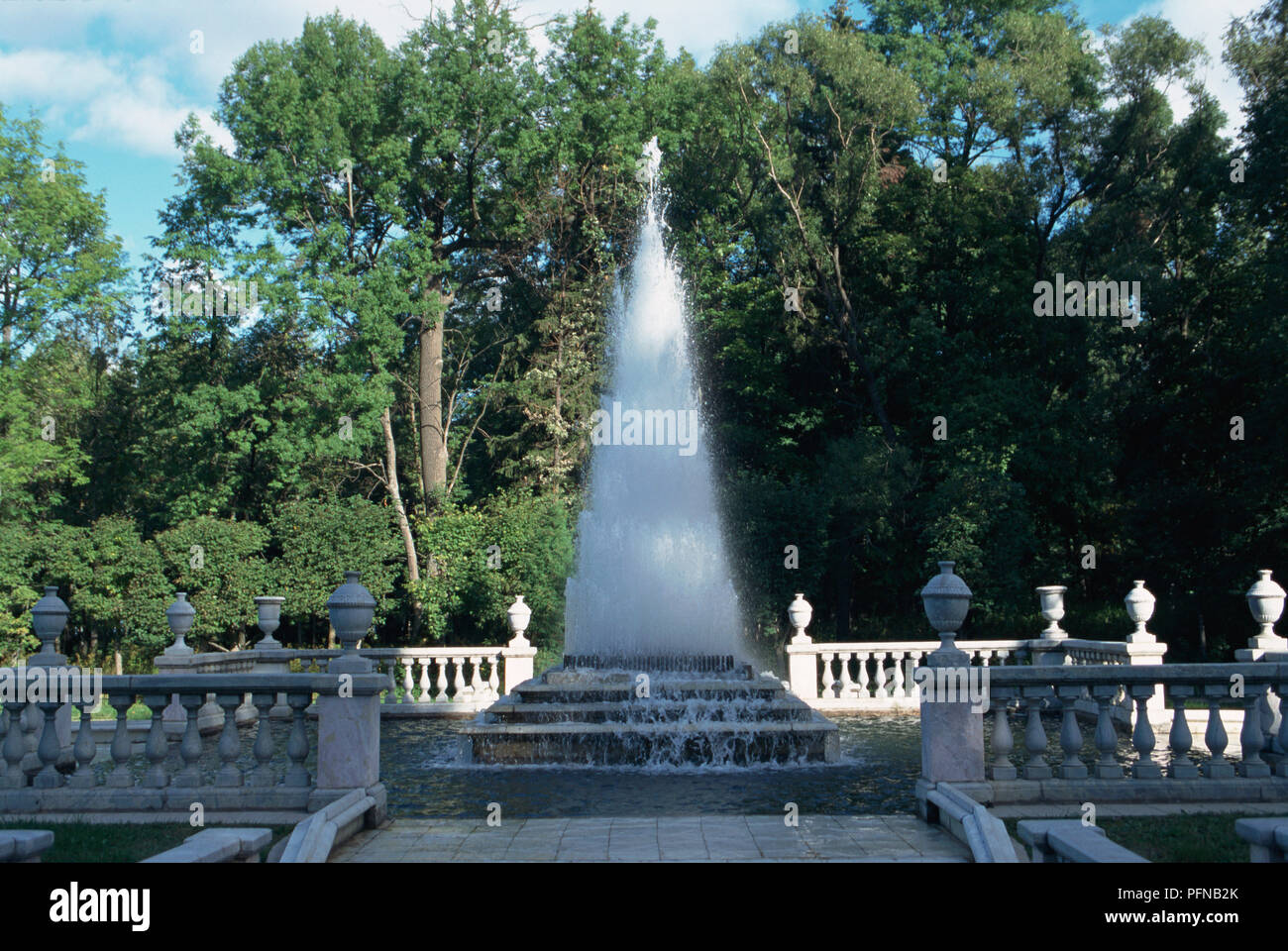 Russia, Northwest, the Pyramid Fountain at Peterhof 1720's