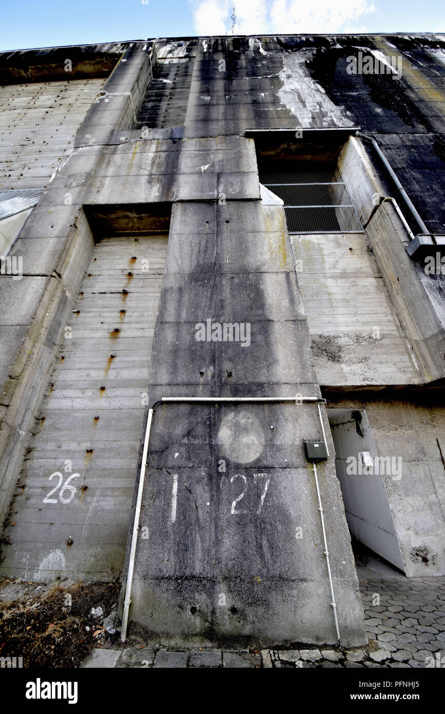 Solid Exterior Walls Of The Submarine Bunker Valentin Taken On