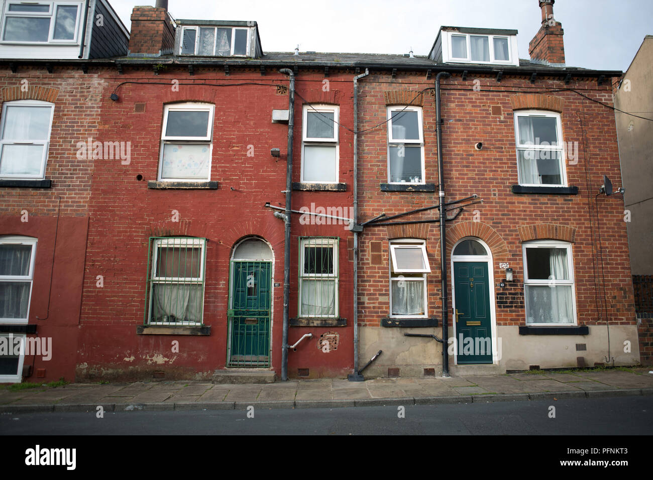 Leeds, UK. 21st Sep, 2017. Some Local council housings neighborhood seen in the Woodhouse area in Leeds. Social housing is a method of housing tenure in which the home is possessed by a local authority, which may be central or local, Social housing is a rental housing which may be owned and ran by the state, by non-profit organizations, or by a combination of the two, usually with the purpose of delivering affordable housing. Social housing can also be perceived as a potential solution to housing inequality. Credit: Rahman Hassani/SOPA Images/ZUMA Wire/Alamy Live News - Stock Image