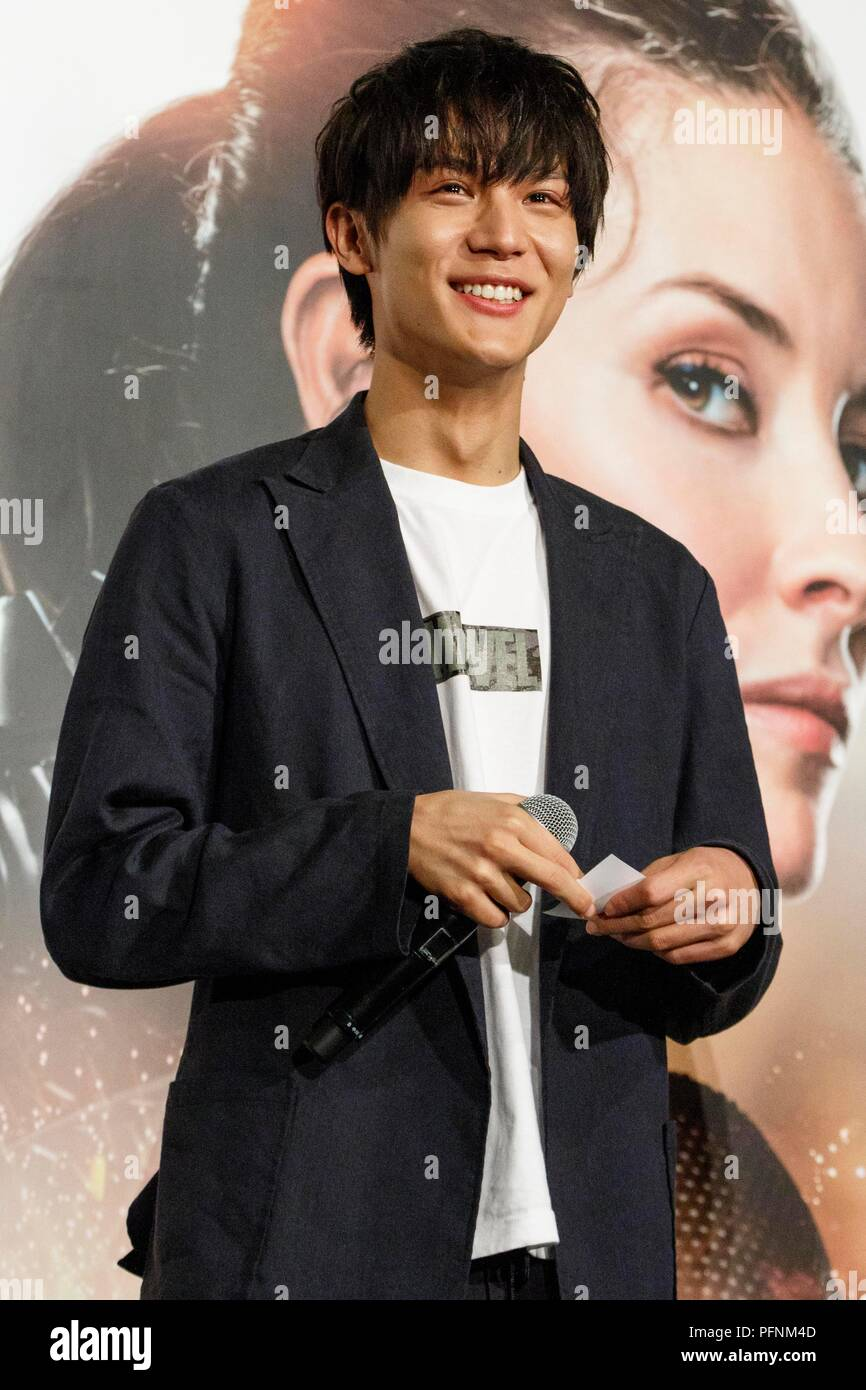 Japanese actor Taishi Nakagawa attends a special fan meeting for the