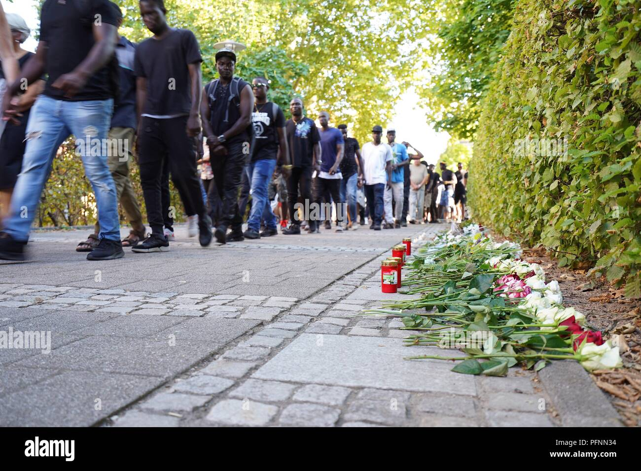 Offenburg Germany 22nd Aug 2018 People Lay Flowers At A Medical