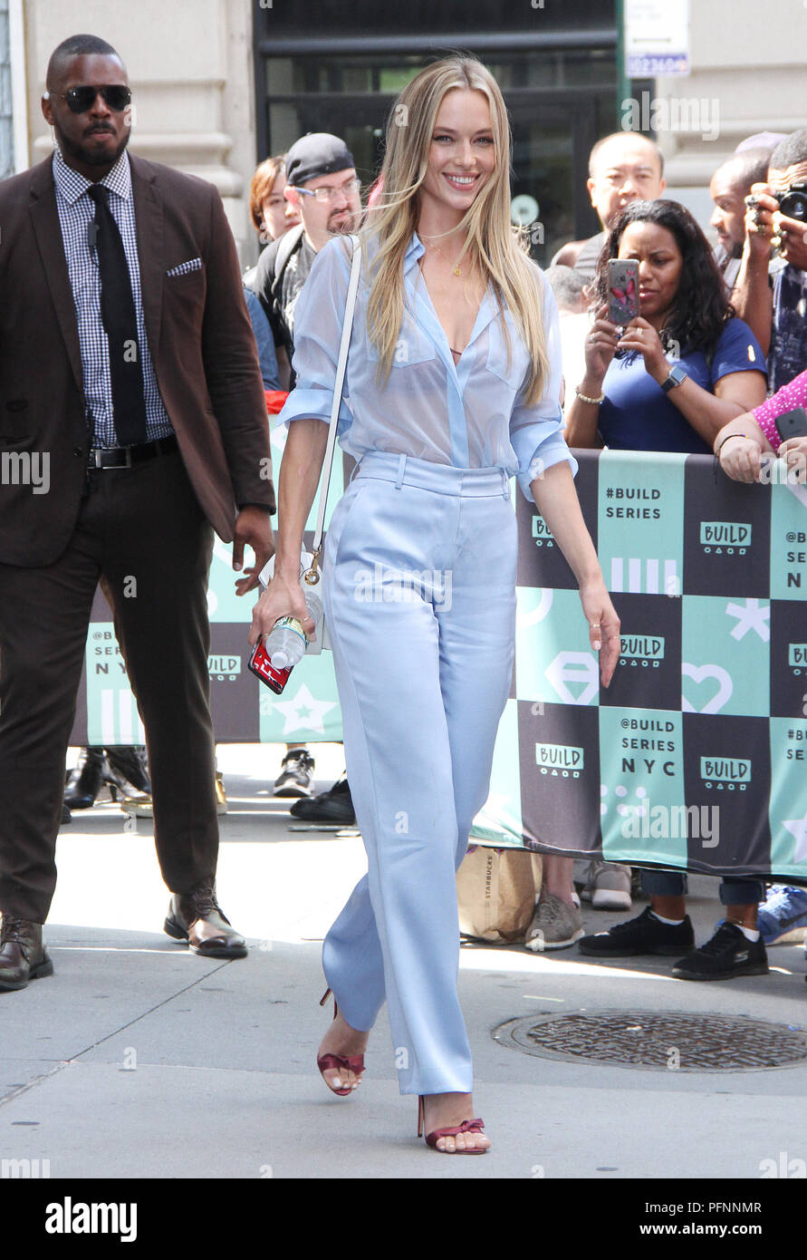NEW YORK, August 22: Hannah Ferguson at Build Series in New York City on August 22, 2018. Credit: RW/MediaPunch - Stock Image