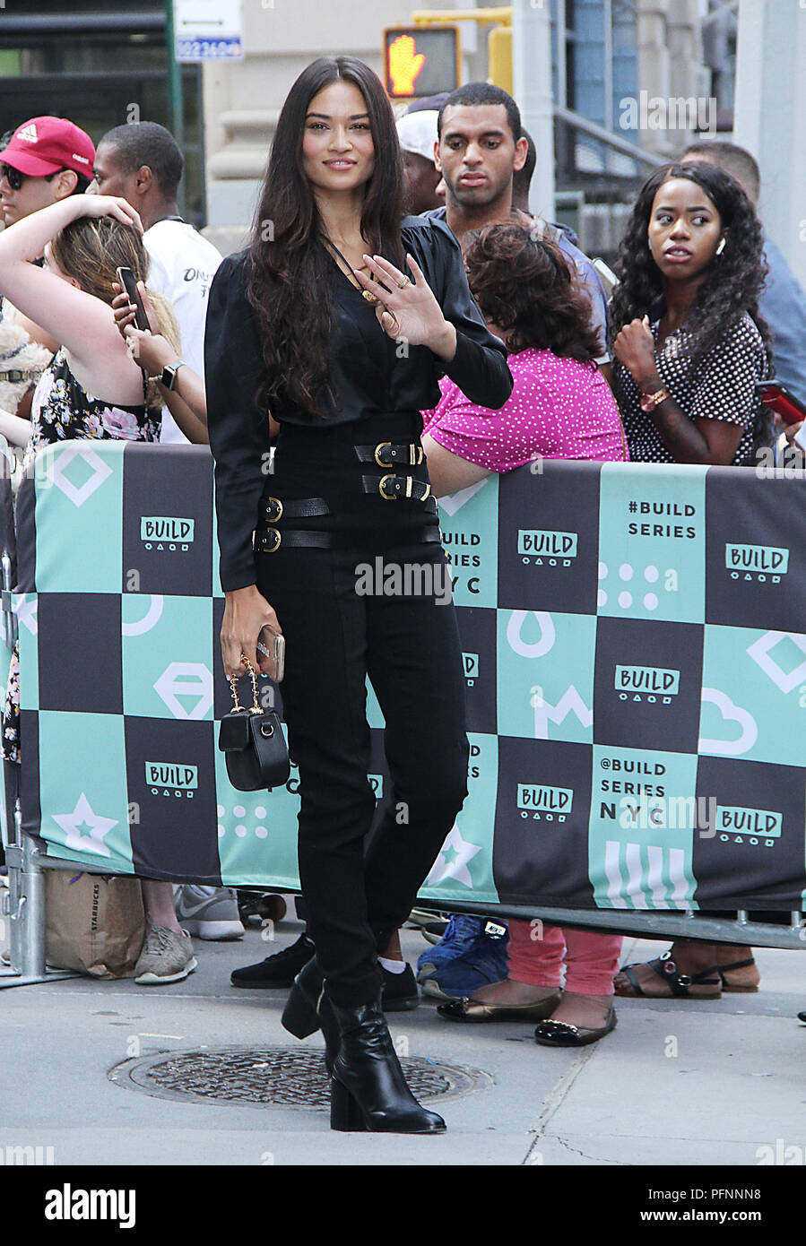 NEW YORK, August 22: Shanina Shaik at Build Series in New York City on August 22, 2018. Credit: RW/MediaPunch - Stock Image