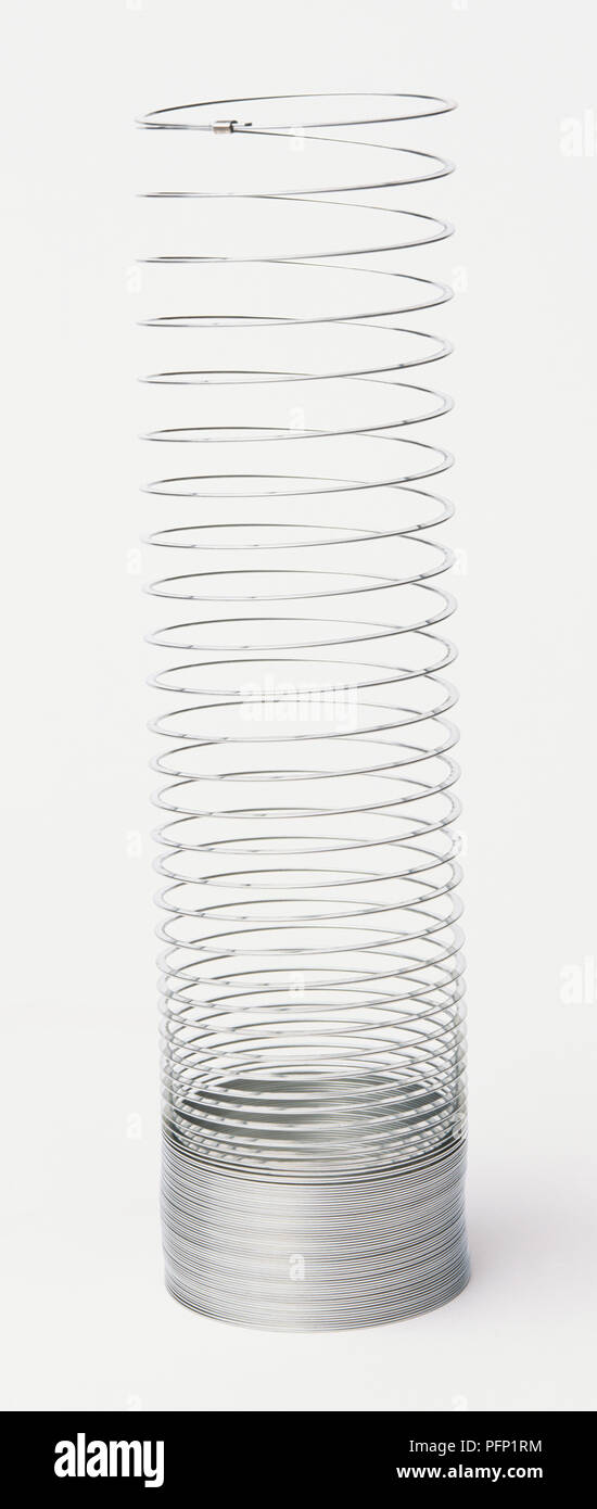 Toy spring, elongated - Stock Image