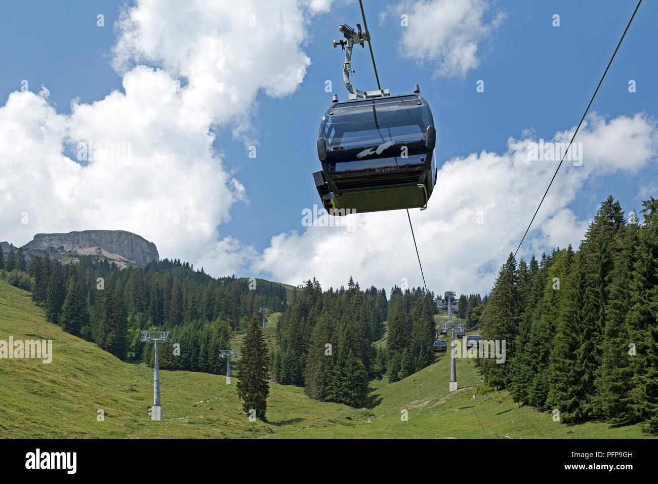 cable car, Hoher Ifen near Hirschegg, little Walser valley, Austria Stock Photo