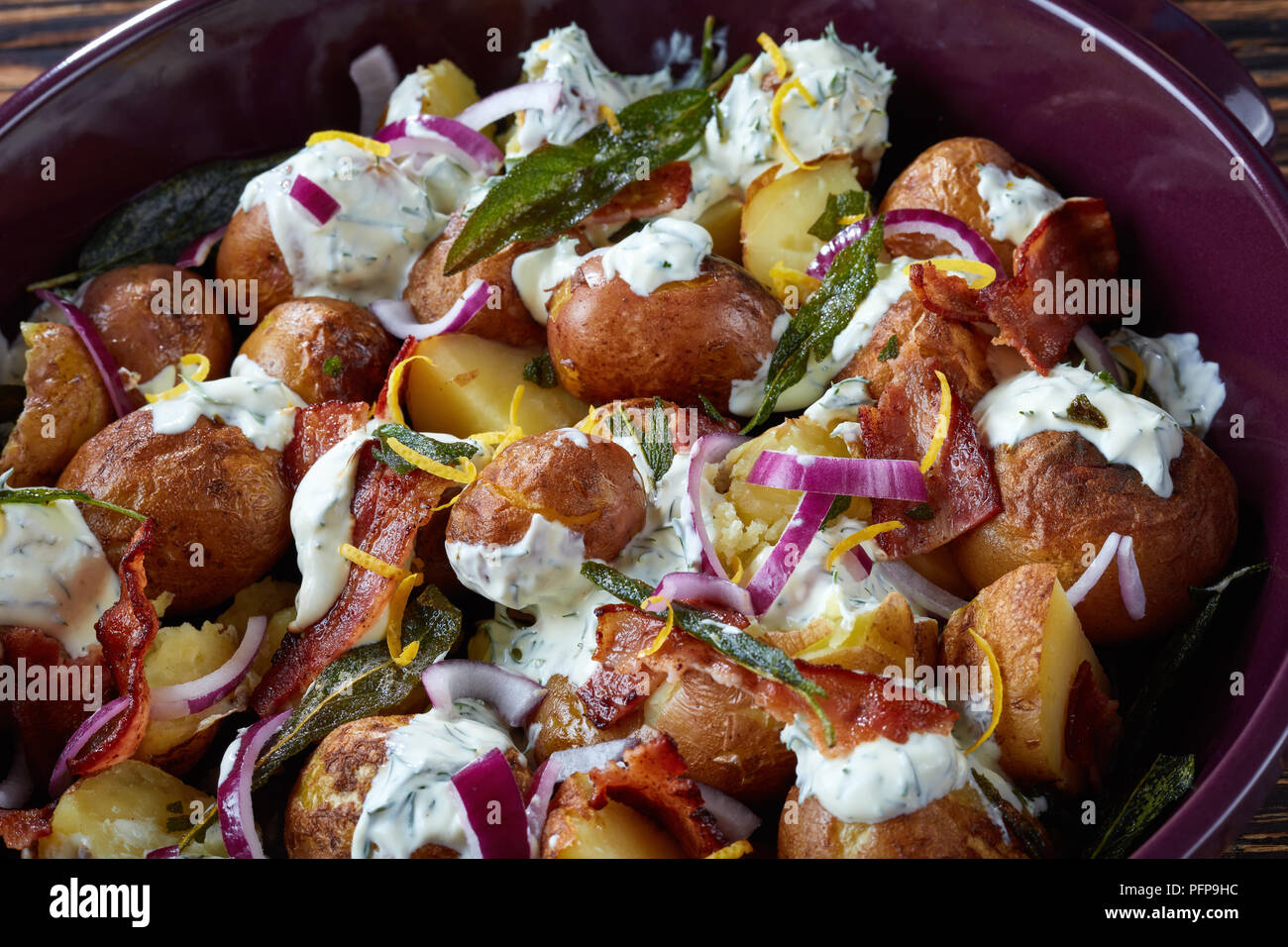 Potato Salad With Greek Yogurt And Bacon