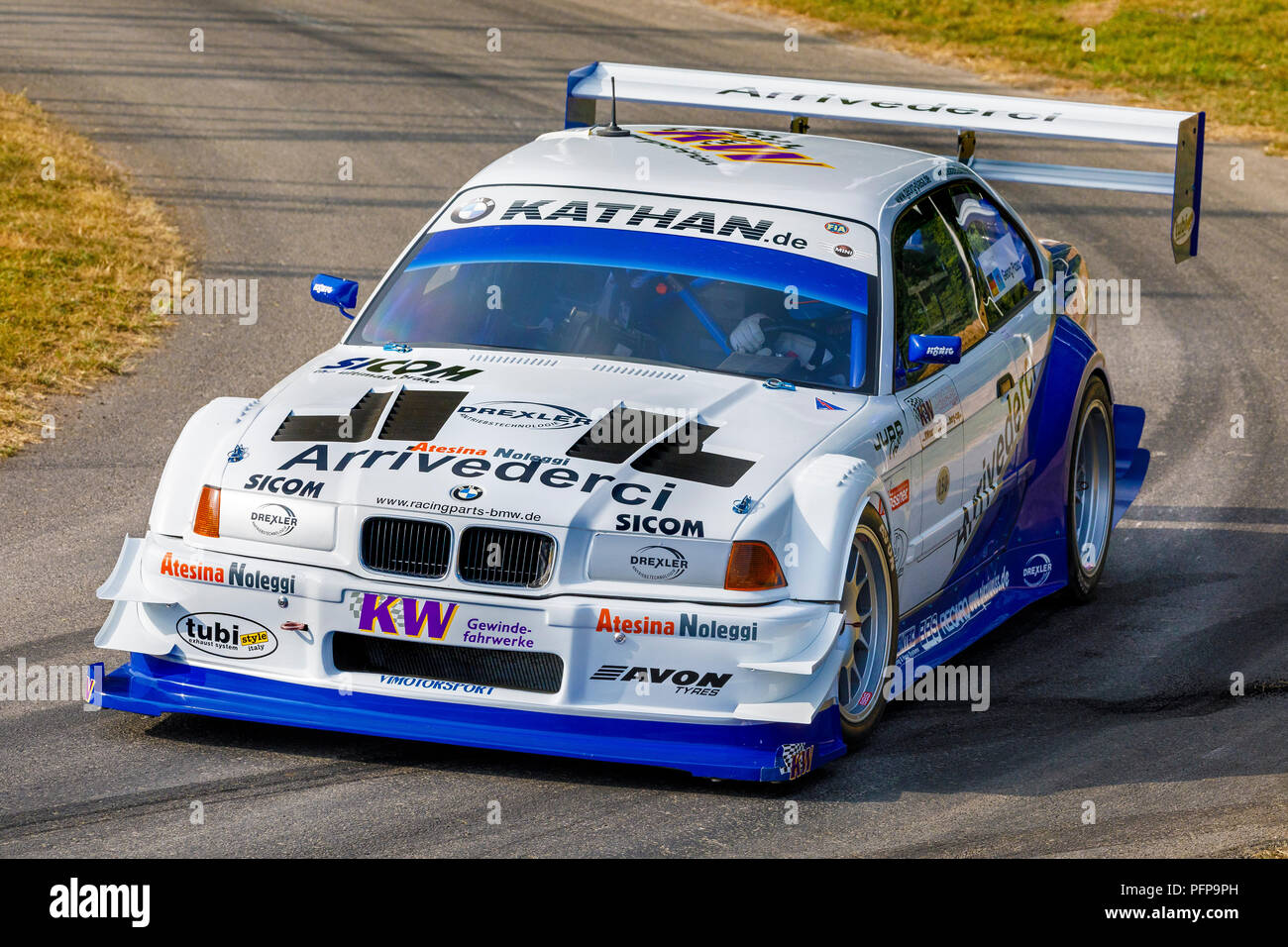 1991 BMW E36 V8 JUDD Pikes Peak Entrant With Driver Joerg Weidinger At The 2018 Goodwood Festival Of Speed Sussex UK
