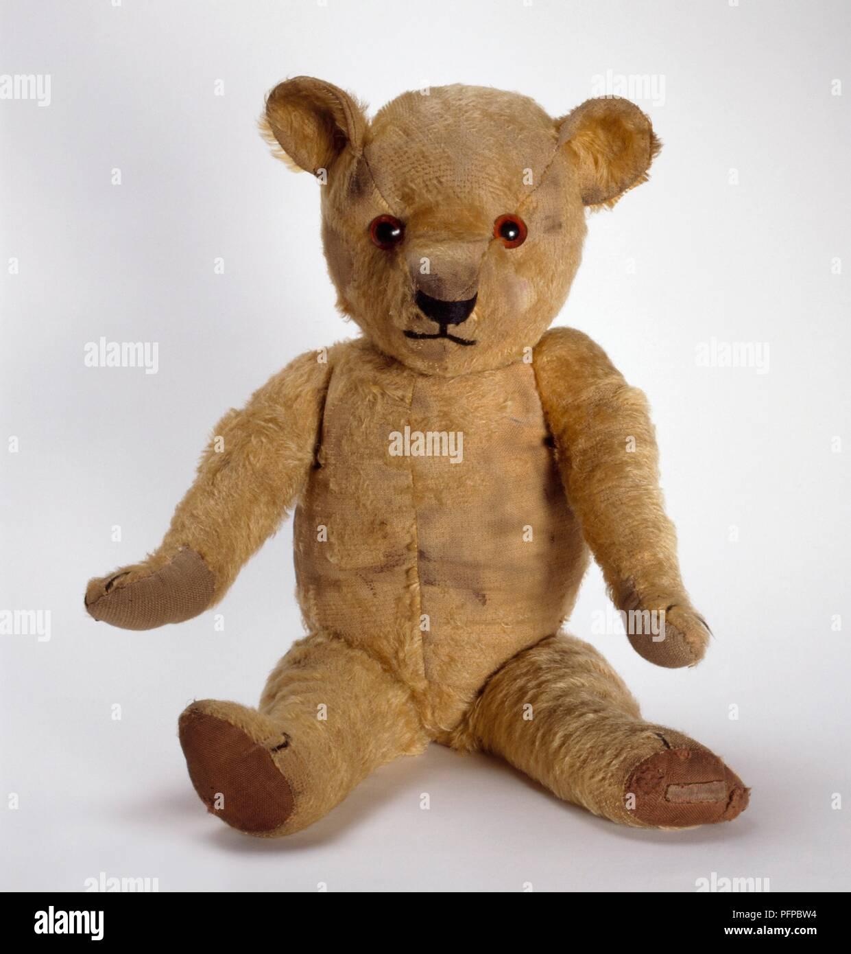 Rowan, 1930s, Chad Valley teddy bear - Stock Image