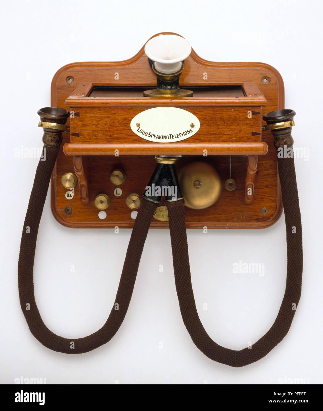 Antique loud speaking telephone - Stock Image
