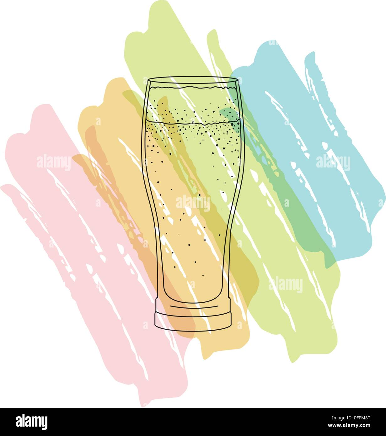 glass with beverage icon - Stock Vector