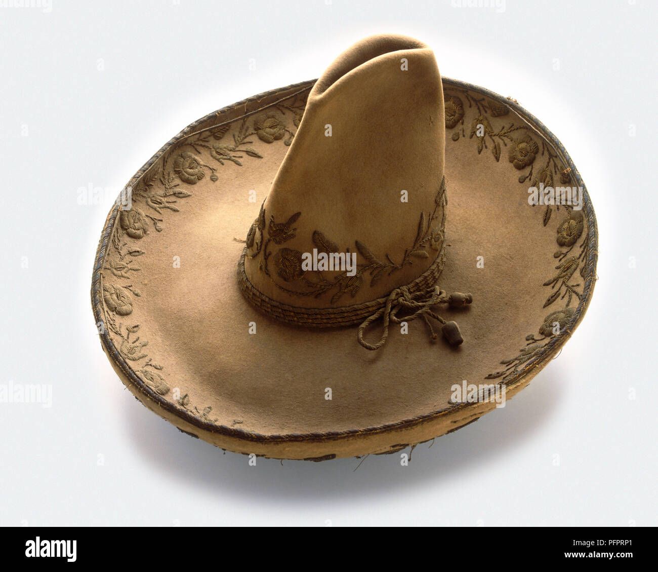Sombrero with embroidery, 19th century - Stock Image