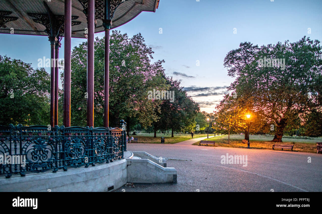 A Victorian Bandstand on Clapham Common London UK - Stock Image
