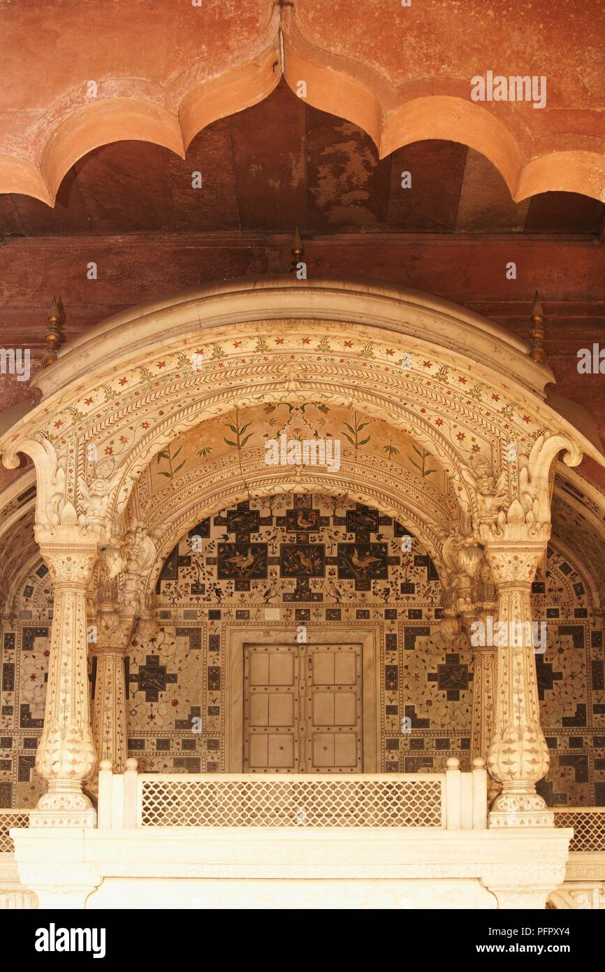 The Arches of Diwan-I-Aam, Red Fort, Old Delhi, India