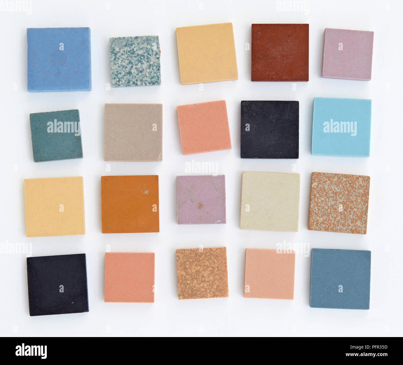 A Selection Of Unglazed Ceramic Tiles Stock Photo 216251657 Alamy