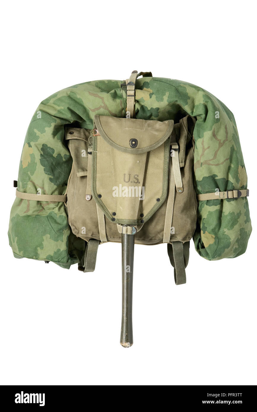 backpack-with-rolled-up-camouflage-tent-