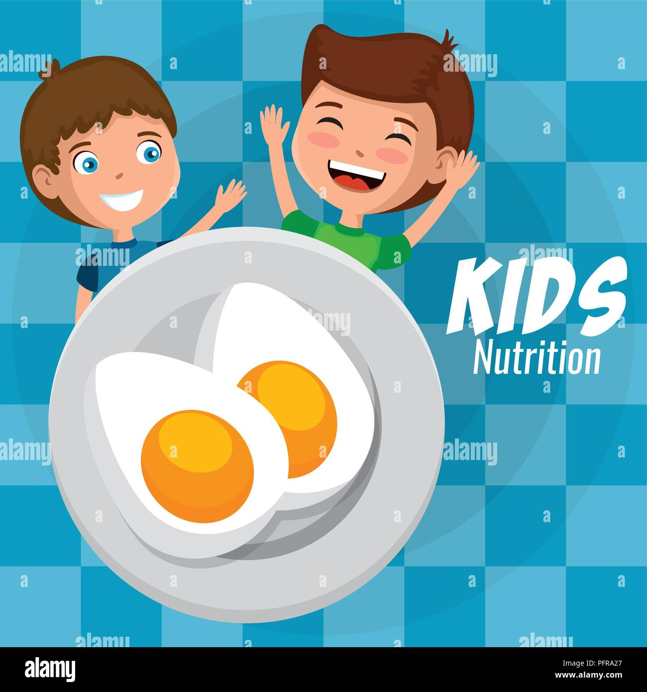 Children Plate Stock Vector Images - Alamy