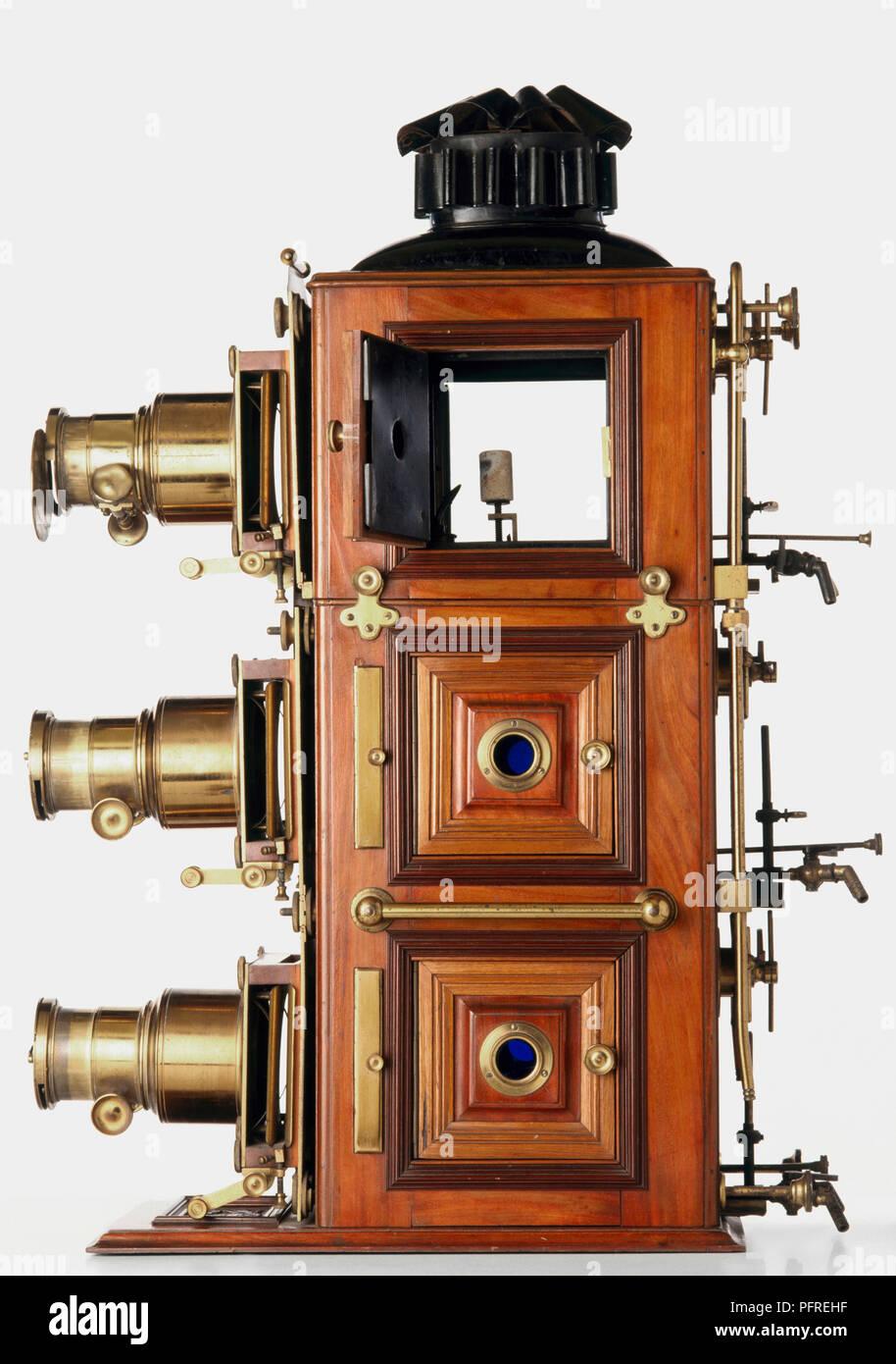 Triunial triple lantern, 19th-century - Stock Image