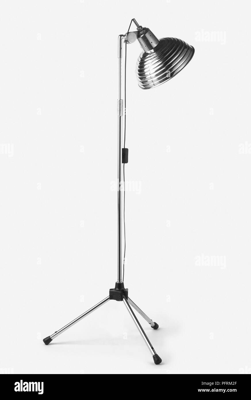 1930s-style lamp on metal stand - Stock Image