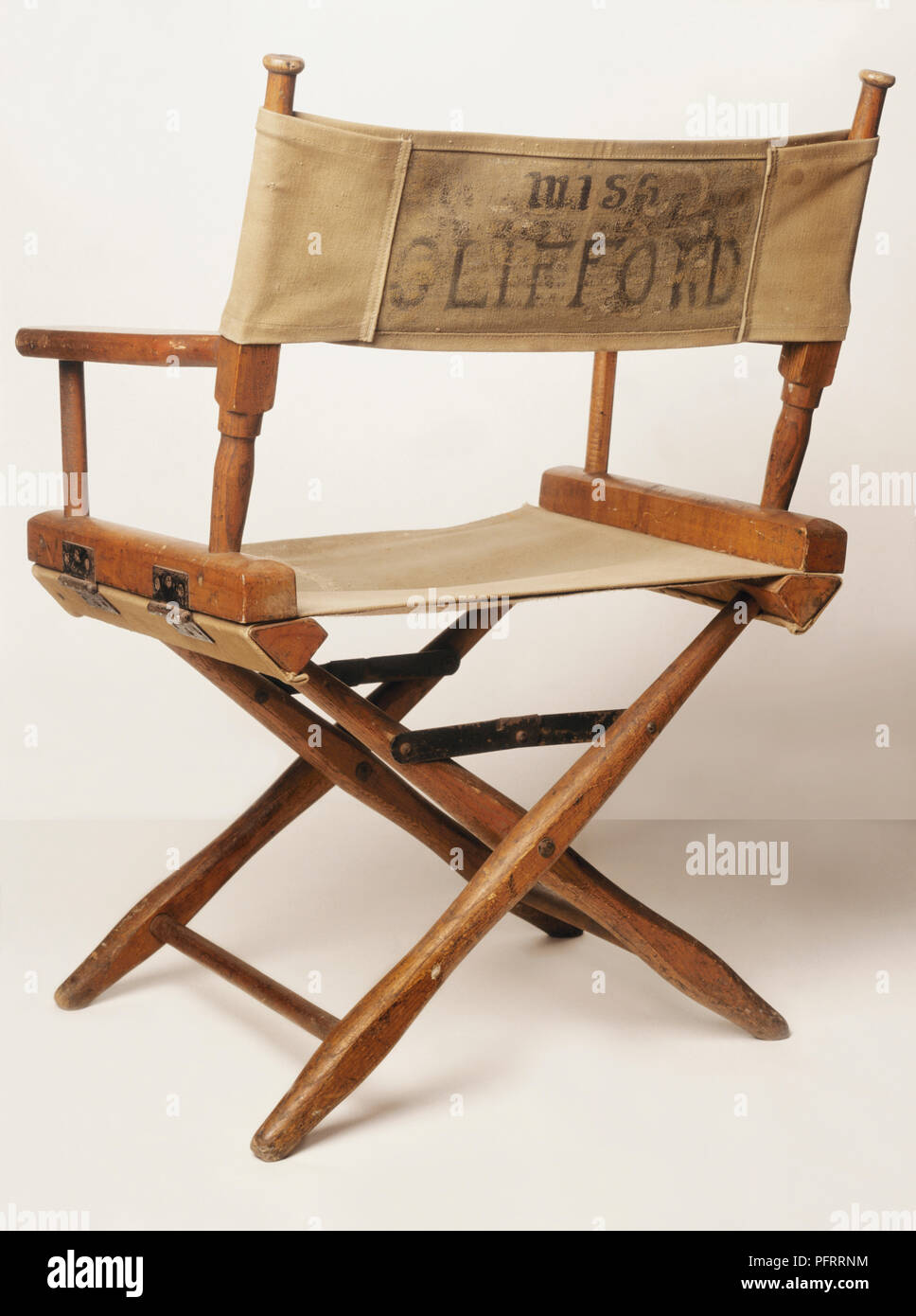 Sensational Wood And Canvas Directors Folding Chair Stock Photo Squirreltailoven Fun Painted Chair Ideas Images Squirreltailovenorg