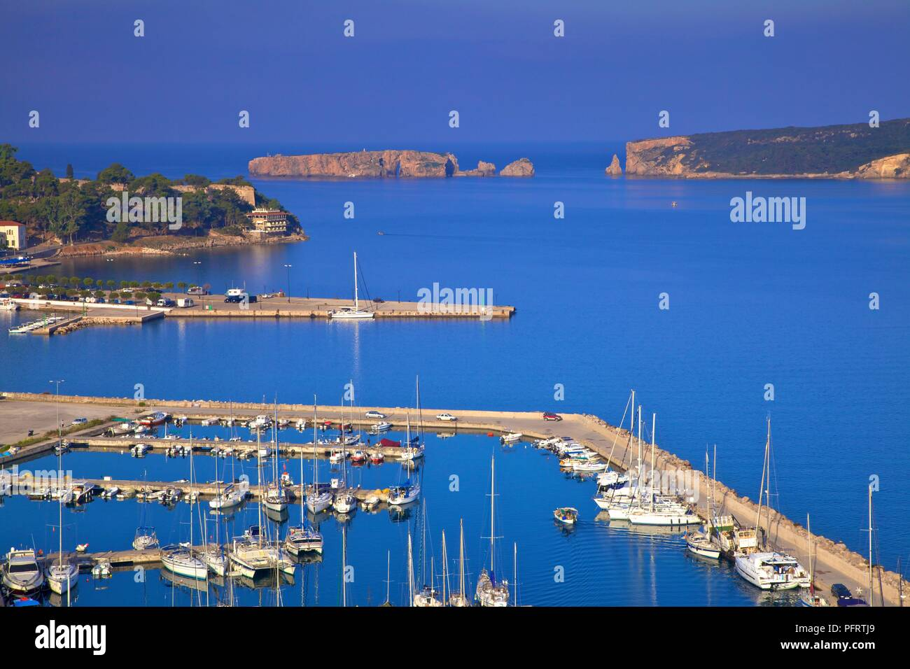The Bay of Pylos, Messinia, The Peloponnese, Greece, Southern Europe - Stock Image