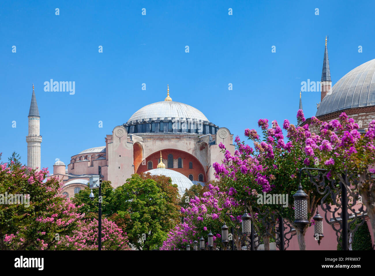 Daytime View Of The Worlds Famous Hagia Sophia Museum With