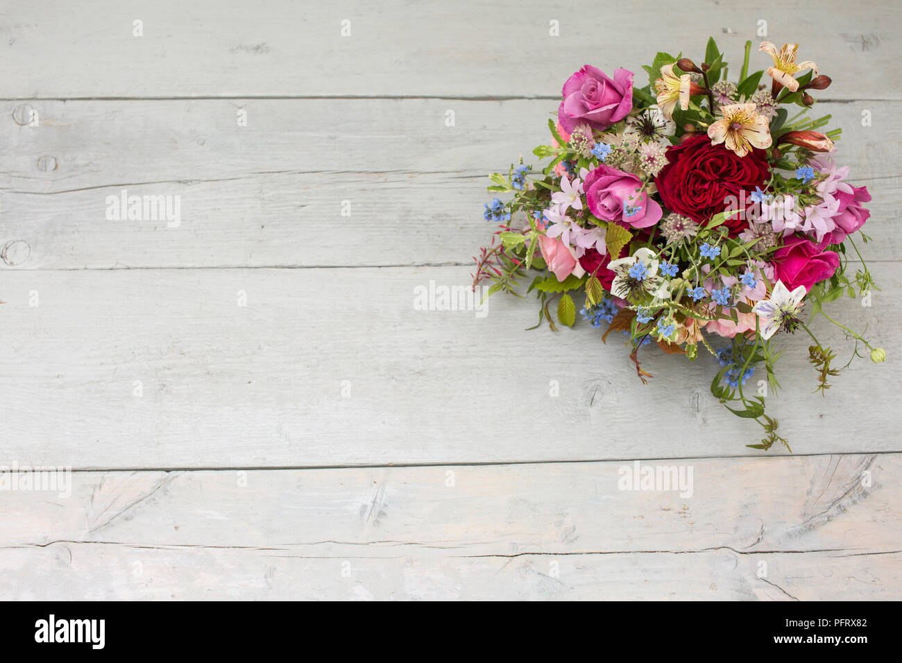 Hand-tied bouquet Stock Photo