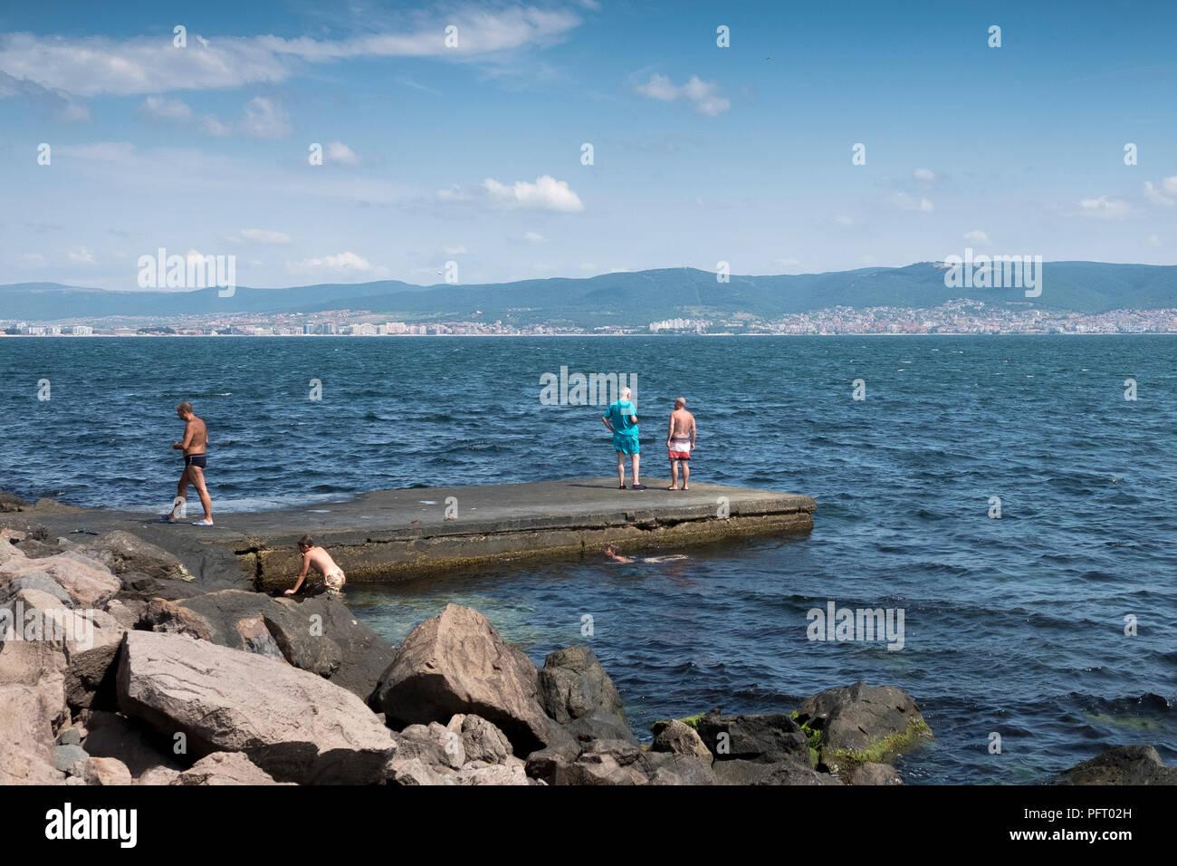 Blick über Vorstadt von Sofia, Bulgarien - Stock Image