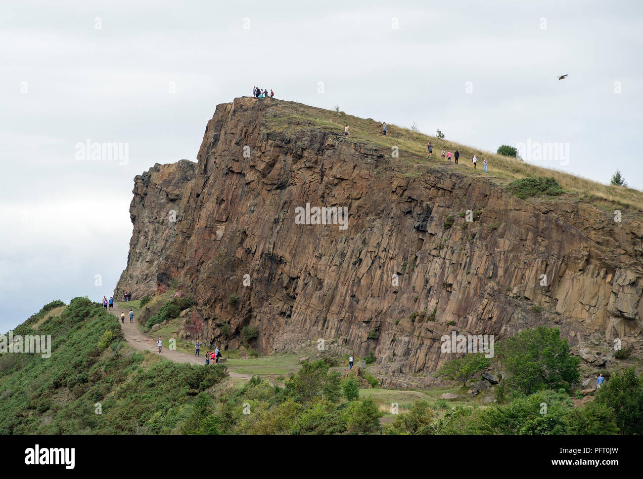 A view of the Arthur's Seat and the Radical road in Holyrood Park, Edinburgh, Scotland. - Stock Image