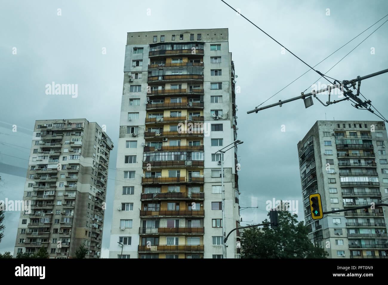 Plattenbauten in Sofia, Bulgaria - Stock Image