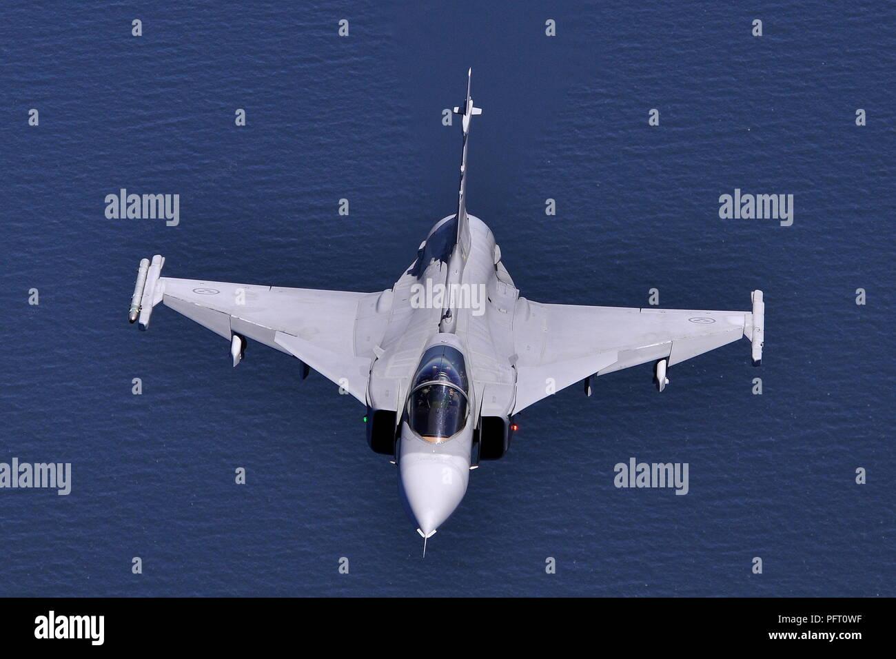 SAAB JAS-39C 39220 OF F7 WING SWEDISH AIR FORCE. - Stock Image