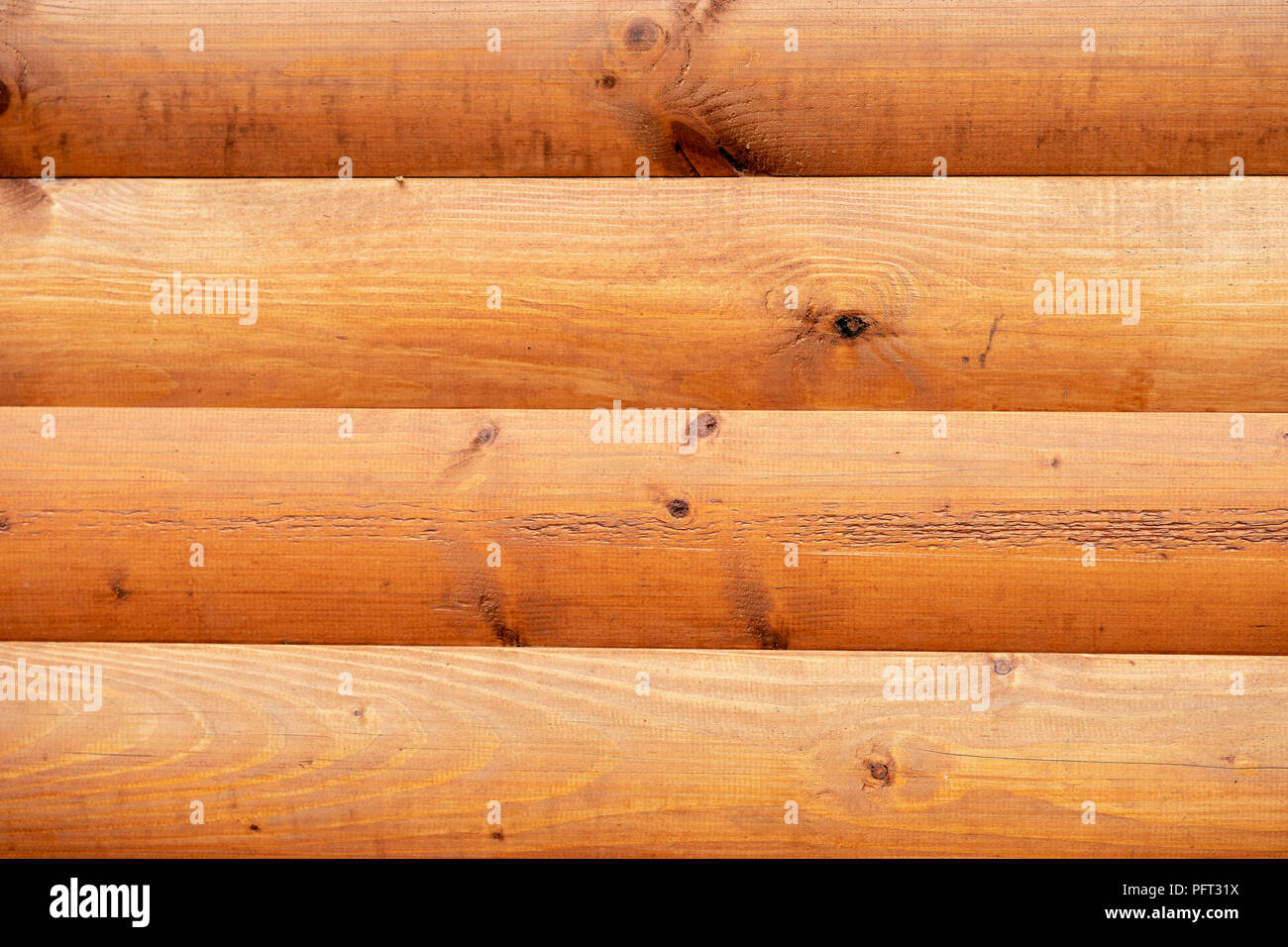 Natural wooden surface, texture. Rustic wooden horizontal brown wood planks with cracks, scratches, twigs, modern design, background, copy space - Stock Image