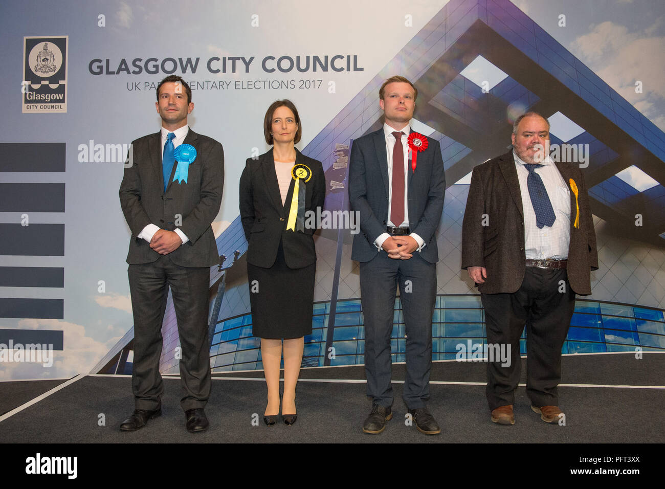 Carol Monaghan SNP Glasgow North West candidate, UK Parliamentary Elections, Emirates Sir Chris Hoy Stadium Glasgow, 9th June 2017 - Stock Image