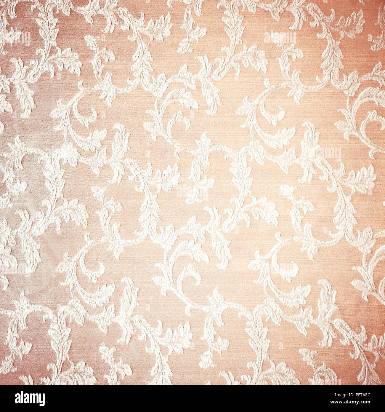 Retro Floral Curtains Background Abstract Beige Textured Wallpaper Beautiful Fabric Decorated With Vintage Style Embroidered Flowers