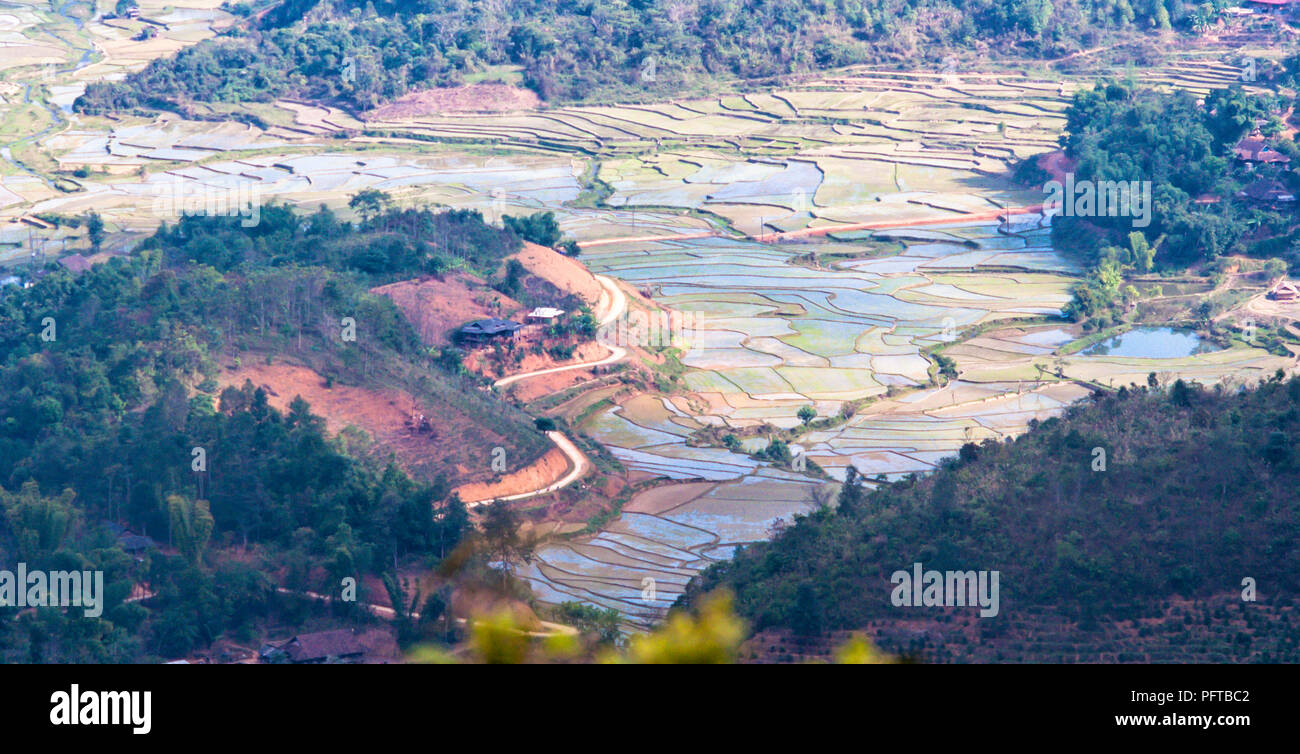 Mountains on North West Viet Nam - Stock Image