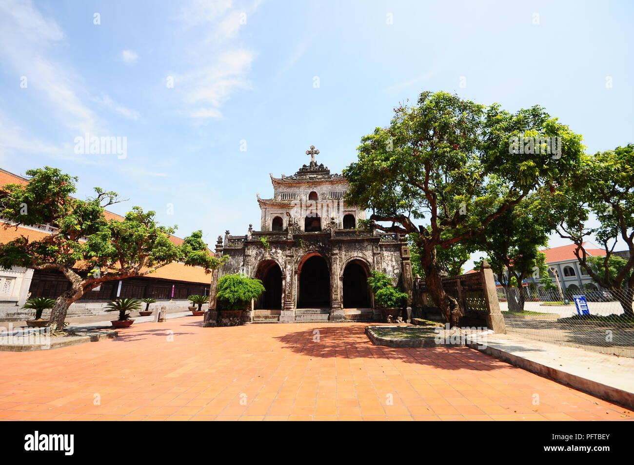 Phat Diem Cathedral in Ninh Binh, Viet Nam - Stock Image