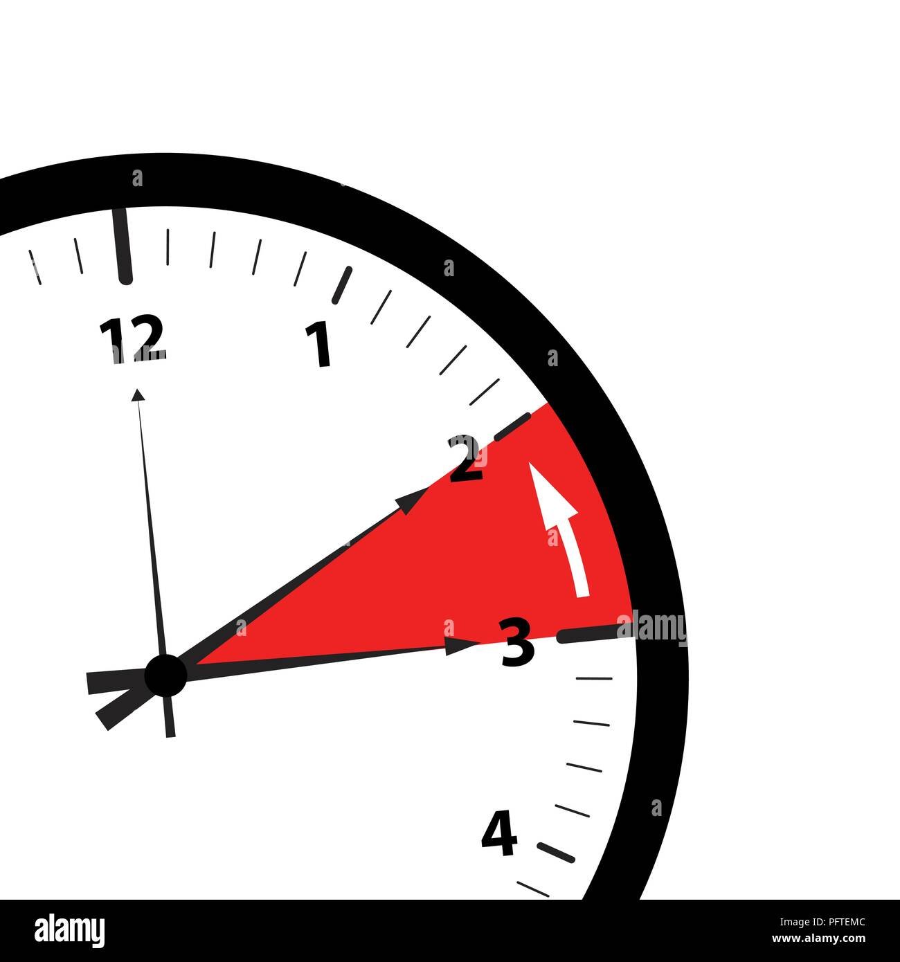 clock switch to winter time detail reminder vector illustration EPS10 - Stock Image