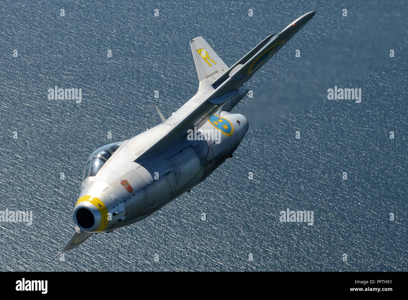SAAB J-29F TUNNAN OF THE SWEDISH AIR FORCE HISTORIC FLIGHT - Stock Image