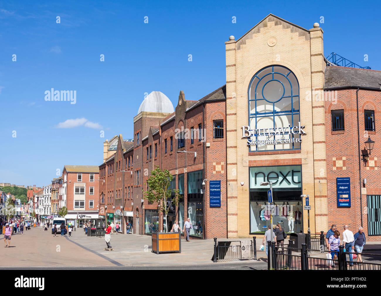 scarborough uk town centre main street scarborough Westborough Brunswick shopping centre Scarborough yorkshire england uk gb europe - Stock Image