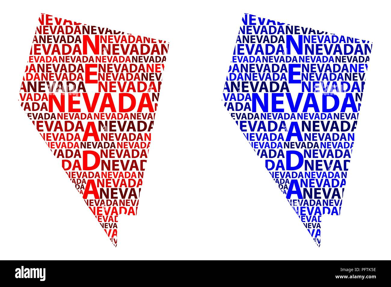 Sketch Nevada United States Of America Letter Text Map Nevada Map In The Shape Of The Continent Map Nevada Red And Blue Vector Illustration Stock Vector Image Art Alamy